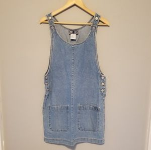 Vintage | 1990's True Life Jean Dress Star Buttons